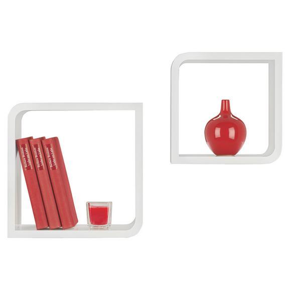 Falipolc 2-részes Szett Fulda - Fehér, Faalapú anyag/Műanyag (28/23/28/23/15cm) - Mömax modern living