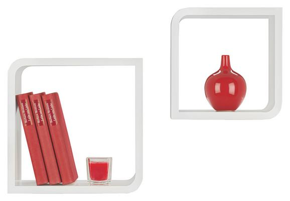 Falipolc 2-részes Szett Fulda - fehér, műanyag/fém (28/23/28/23/15cm) - MÖMAX modern living