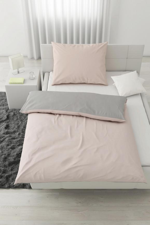Posteljnina Belinda Xl - roza/svetlo siva, tekstil (140/220cm) - Premium Living