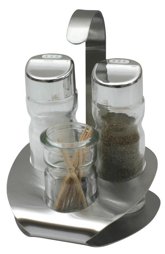 Só- És Borsszóró Lindi - juhar színű, üveg (10*9*14cm)
