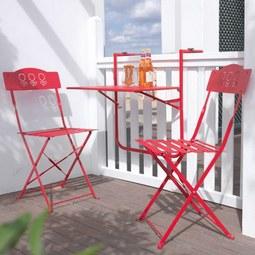 Balkonset Arianna - Rot, MODERN, Metall - MÖMAX modern living