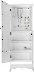 Schmuckspiegelschrank Claudine - Weiß, MODERN, Glas/Holz (50/139,5/46cm) - Mömax modern living