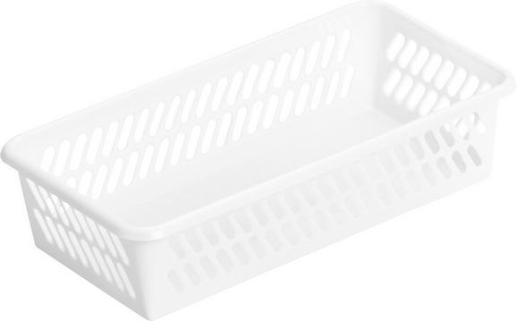 Korb Mimi Weiß - Weiß, Kunststoff (20,1/4,9/10,3cm) - Mömax modern living
