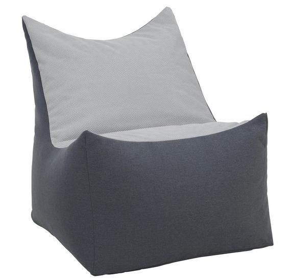Sitzsack in Grau, ca. 70x85x90cm - Grau, Textil (70/85/90cm) - Modern Living