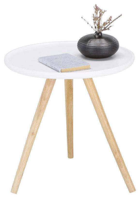 Beistelltisch in Weiß - Eichefarben/Weiß, MODERN, Holz/Holzwerkstoff (48/48cm) - MÖMAX modern living