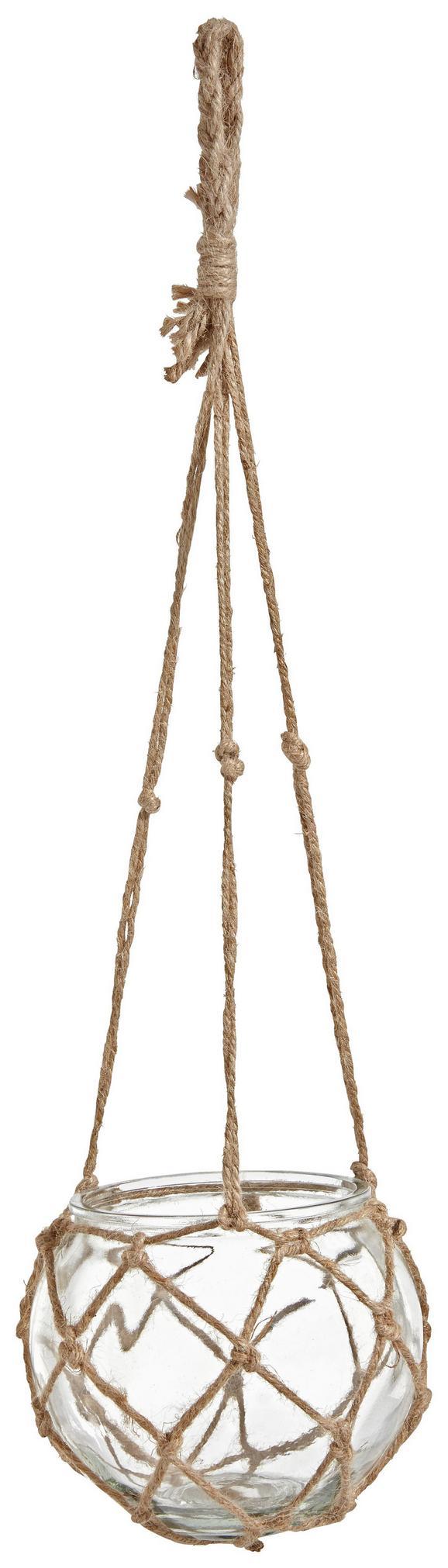 Svečnik Tina - naravna/prozorna, Romantika, steklo/ostali naravni materiali (11cm)