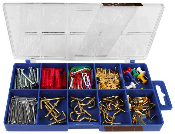 Haushaltssortiment 195-teilig  In Kunststoffbox - KONVENTIONELL, Kunststoff/Metall (19,5/2,4/1,05cm)
