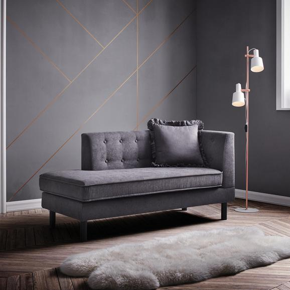 Recamiere Viola - Dunkelgrau, MODERN, Holz/Textil (157/74/71cm) - Modern Living