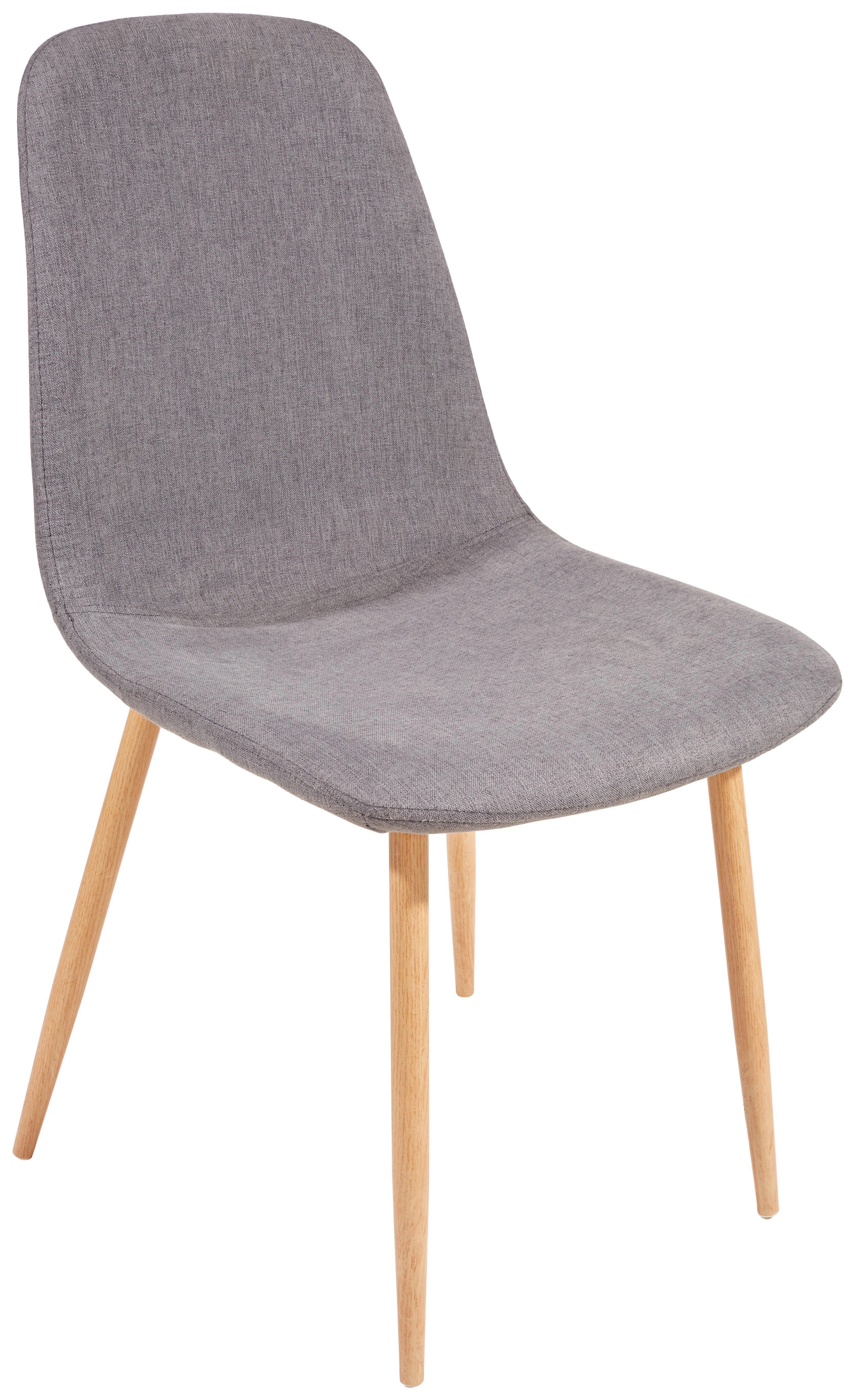 Szék Svenja I - tölgy színű/szürke, modern, textil/fém (45,5/86,5/53cm)