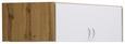 Aufsatzschrank Weiß/Wotan Eiche - Eichefarben/Alufarben, MODERN, Holzwerkstoff/Kunststoff (120/39/54cm) - Modern Living