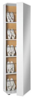 Schuhschrank in Weiß - Wengefarben/Eichefarben, Holz/Holzwerkstoff (47/190/29cm) - Mömax modern living