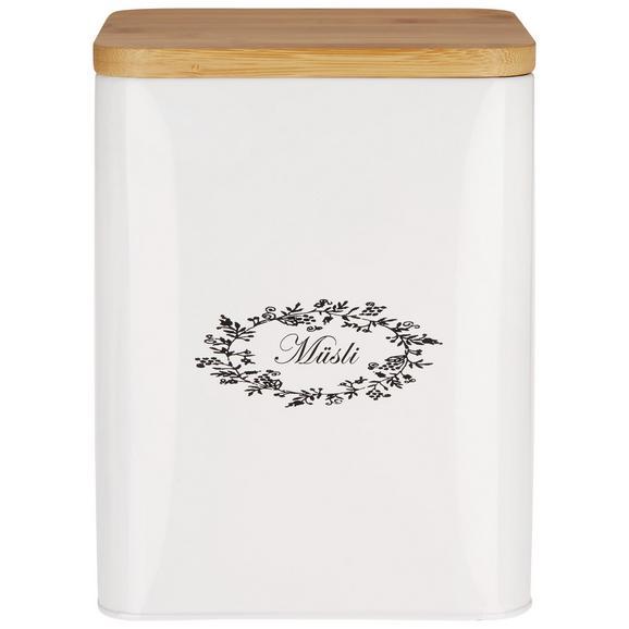 Box mit Deckel Lore Weiß - Weiß, ROMANTIK / LANDHAUS, Holz/Metall (18/15,5/23cm) - Zandiara