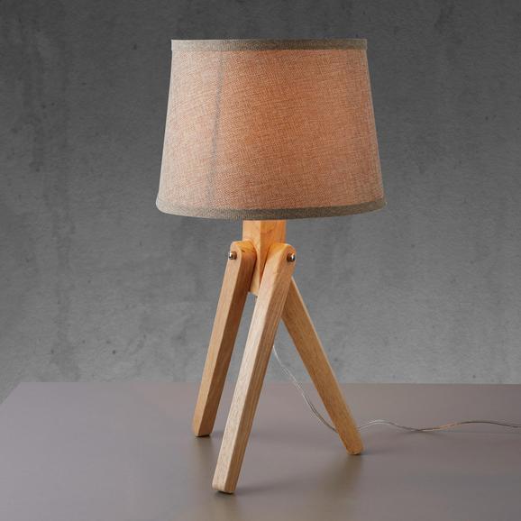 Tischleuchte Sergio - Beige, MODERN, Holzwerkstoff/Textil (28/24,5cm) - Mömax modern living