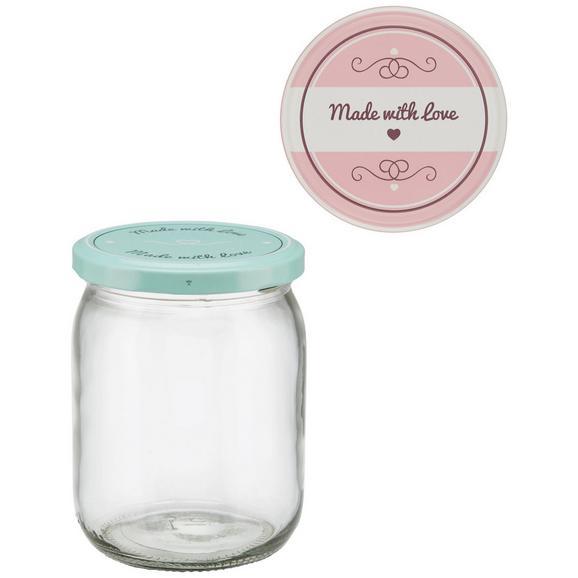 Einmachglas Rosie verschiedene Farben - Klar/Rosa, Glas (8,8/11,9cm)