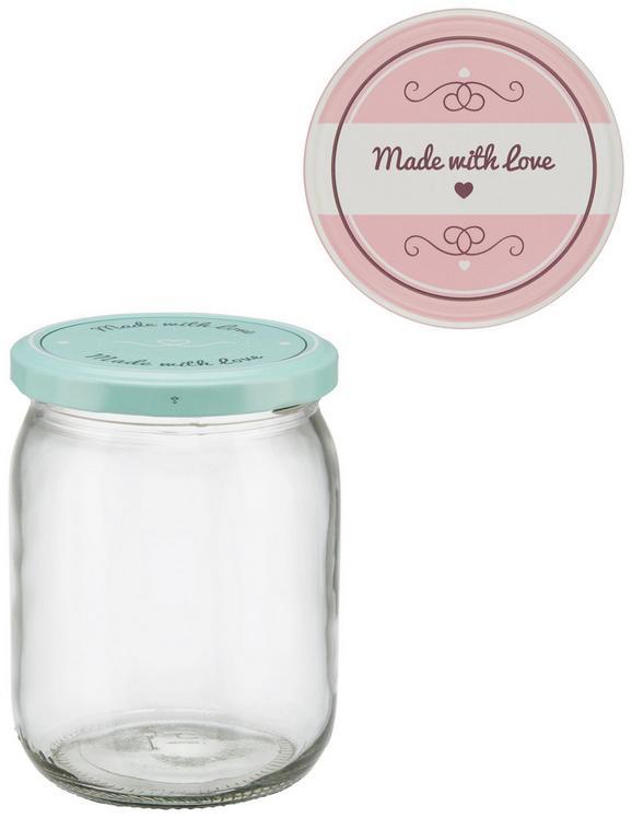 Kozarec Za Vlaganje Rosie - roza/meta zelena, kovina/umetna masa (8,8/11,9cm)