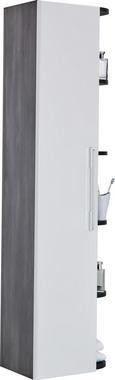 Hochschrank Weiß/dunkelgrau - Dunkelgrau/Weiß, MODERN, Holzwerkstoff (40/150/28,5cm) - MÖMAX modern living