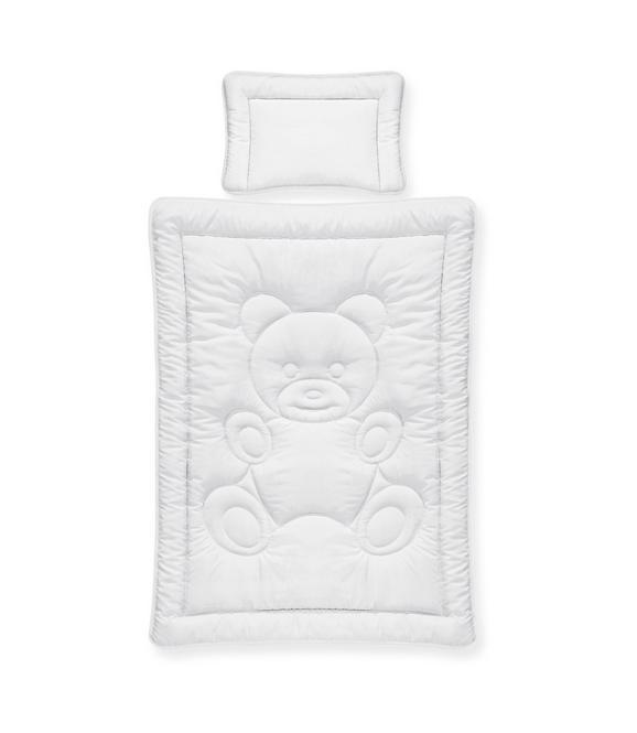 Bettenset Teddy in Weiß - Weiß, Textil - Nadana