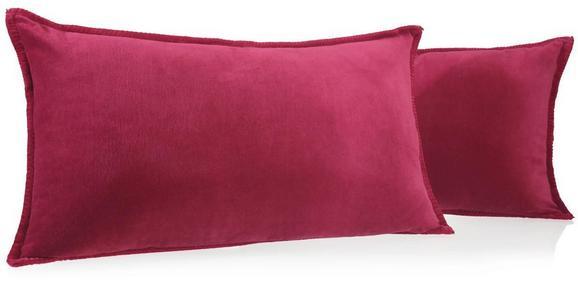 Samt Zierkissen Phil 40x70cm - Rot, KONVENTIONELL, Textil (40/70cm) - Premium Living