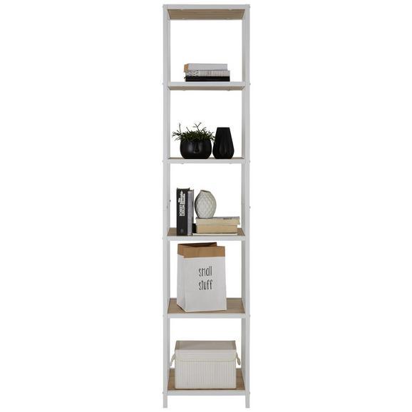 Regal in Weiß/Eichefarben - Eichefarben/Weiß, MODERN, Holzwerkstoff/Metall (40/185/40cm) - Modern Living