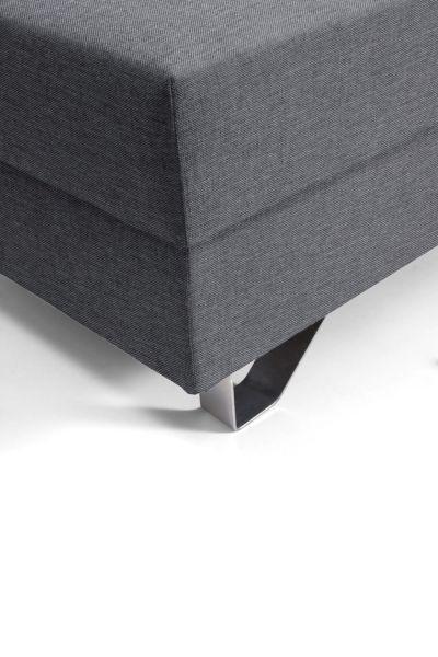 Hocker in Dunkelgrau - Chromfarben/Dunkelgrau, MODERN, Textil/Metall (64/43/92cm) - PREMIUM LIVING