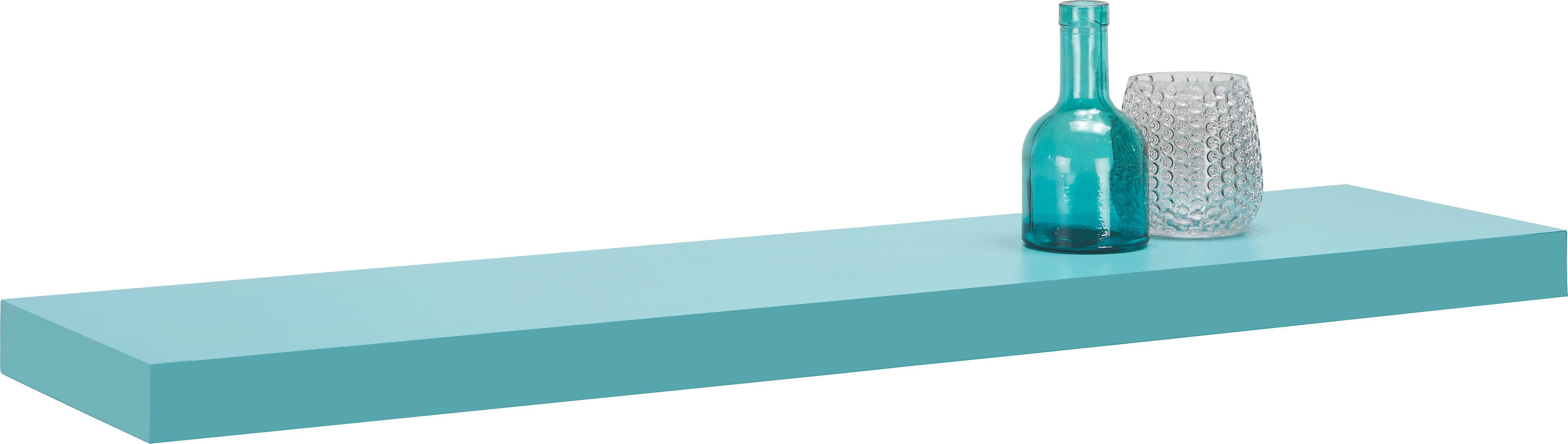 Falipolc Anja Mare - világos kék, faanyagok (100/4,4/24cm)
