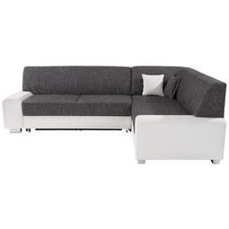 Sedežna Garnitura Miami - siva/bela, Moderno, umetna masa/tekstil (260/210cm) - Mömax modern living