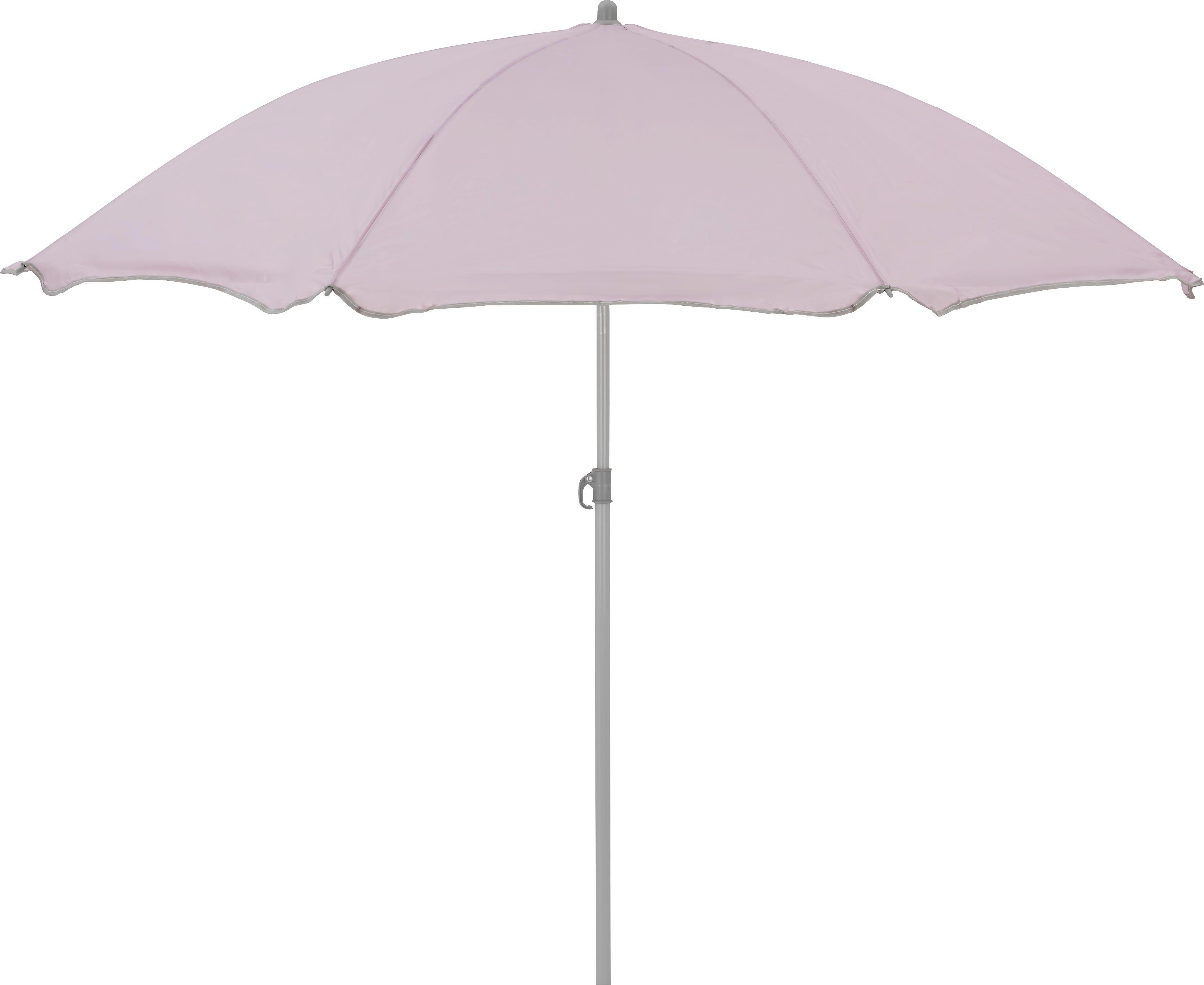 Sonnenschirm Lecci in Altrosa - Altrosa/Grau, Kunststoff/Metall (180/190cm) - MÖMAX modern living