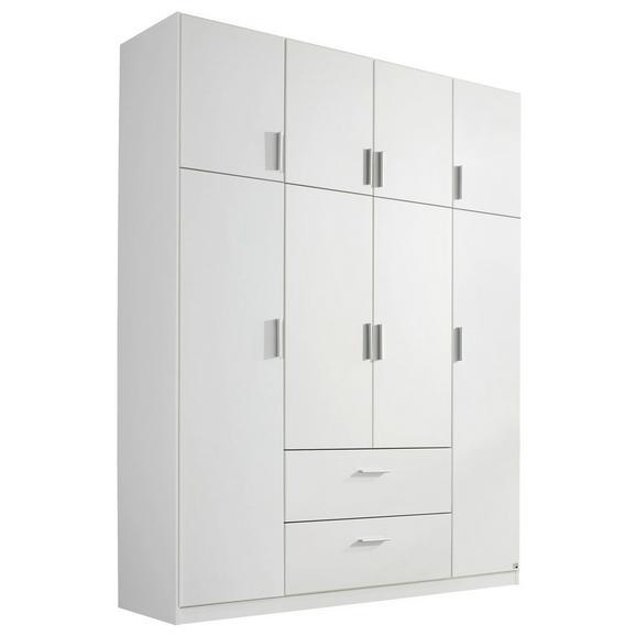 Kombischrank in Weiß - Alufarben/Weiß, KONVENTIONELL, Holzwerkstoff/Kunststoff (181/229/54cm) - Modern Living