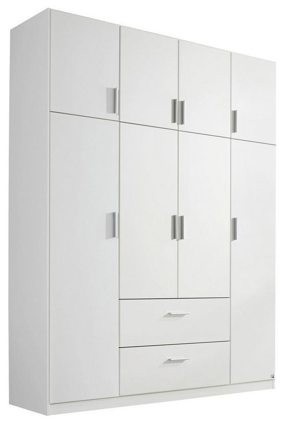 Kombischrank Weiß - Alufarben/Weiß, KONVENTIONELL, Holzwerkstoff/Kunststoff (181/229/54cm) - Modern Living