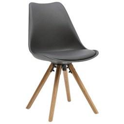 Stuhl in Grau - Eichefarben/Grau, MODERN, Holz/Kunststoff (48/81/57cm) - Modern Living