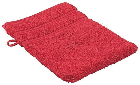 Rokavica Za Umivanje Melanie - rdeča, tekstil (16/21cm)