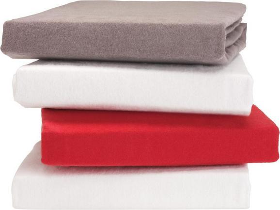 Spannbetttuch Erna, ca. 100x200cm - Anthrazit/Rot, Textil (100/200cm) - Mömax modern living