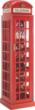 Boros Szekrény London Telephone - Piros, modern, Faalapú anyag (44/171/44cm) - Mömax modern living