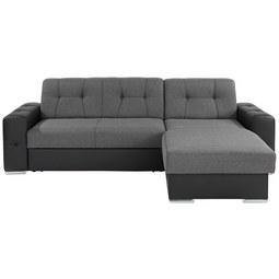 Sedežna Garnitura Fulton - črna/siva, Moderno (260/160cm) - MÖMAX modern living