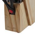 Echtwerk Messerblock 14-teilig - Silberfarben/Kieferfarben, MODERN, Holz/Metall (16/8,1/21,5cm) - Echtwerk