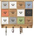 Hängeelement Tina - Multicolor/Bronzefarben, KONVENTIONELL, Holz/Metall (58/51/13cm) - Premium Living