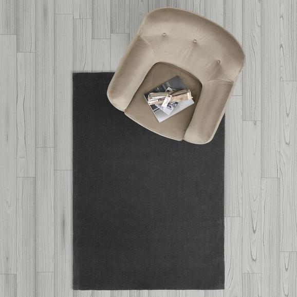 Teppich Carolin Handgewebt ca.120x170cm - Dunkelgrau, MODERN, Textil (120/170cm) - Mömax modern living