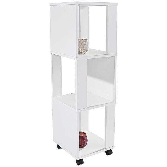 Etajeră Rolly - alb, Modern, plastic/compozit lemnos (34/111/34cm)