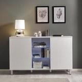 Sideboard Basic inkl. Beleuchtung - Weiß, MODERN, Glas/Holzwerkstoff (138/84/40cm) - Modern Living