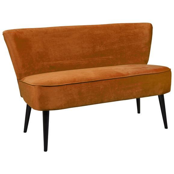 Sitzbank in Goldfarbe 'Lord' 3-Sitzer - Goldfarben/Schwarz, Trend, Holz/Holzwerkstoff (179/83/75cm) - Livetastic