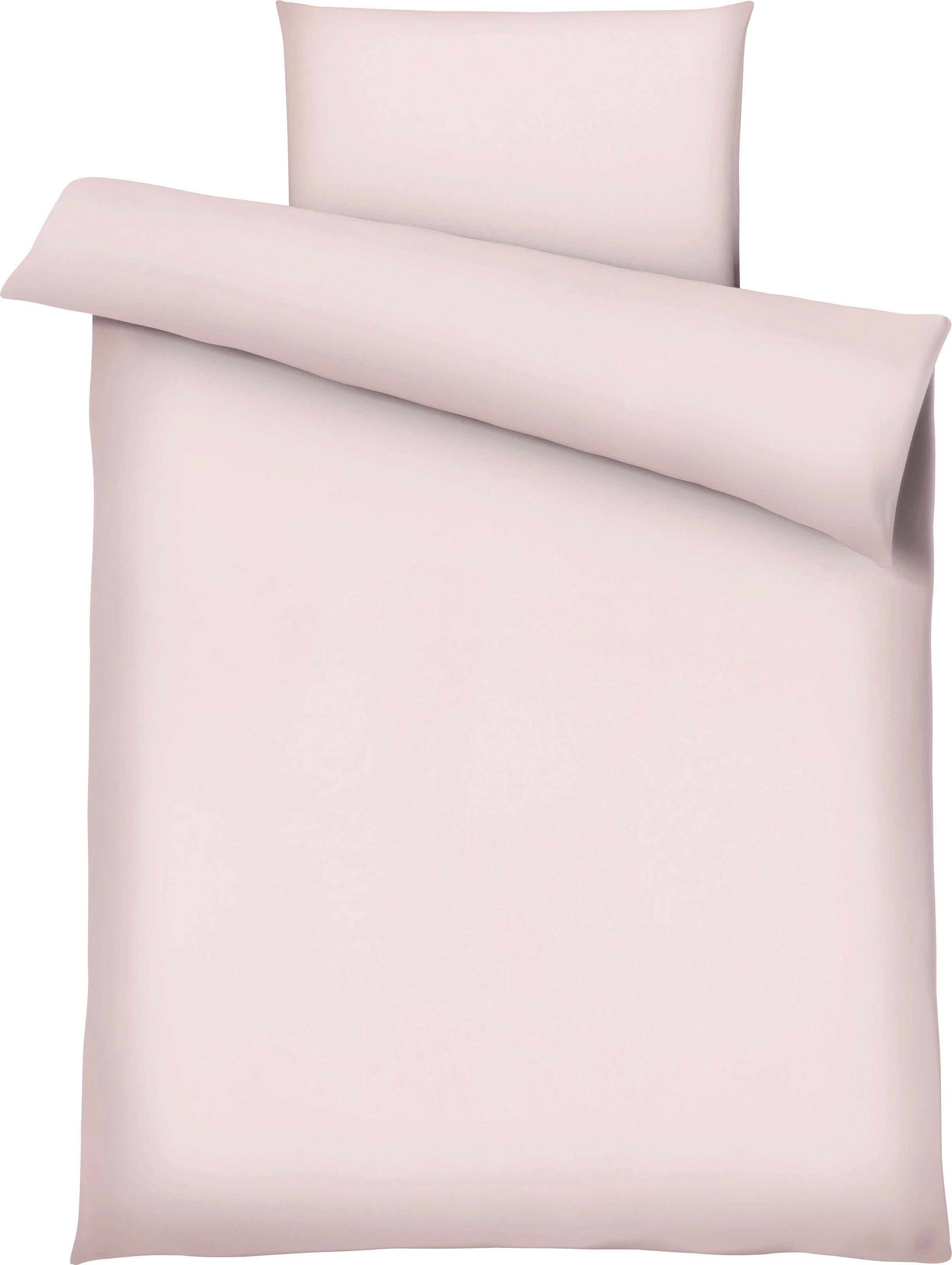 Bettwäsche Marion in Rosa, ca. 135x200cm - Rosa, Textil (135/200cm) - PREMIUM LIVING