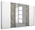Schwebetürenschrank Grau/Weiß - Alufarben, KONVENTIONELL, Holzwerkstoff/Metall (271/210/62cm) - Modern Living