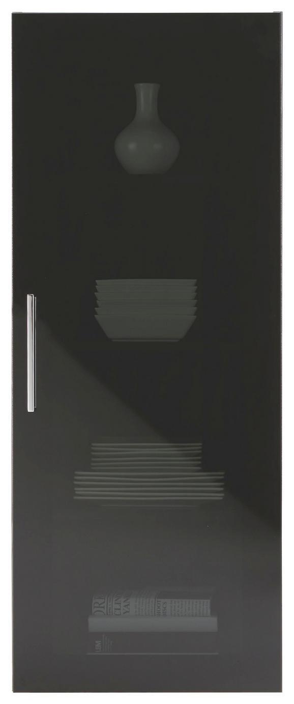 Hängevitrine Lärche/Grau - Chromfarben, MODERN, Holzwerkstoff/Metall (45/116/35cm) - Premium Living
