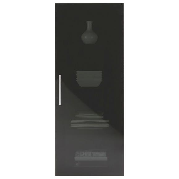 Viseča Vitrina Dark - krom, Moderno, kovina/leseni material (45/116/35cm) - Premium Living