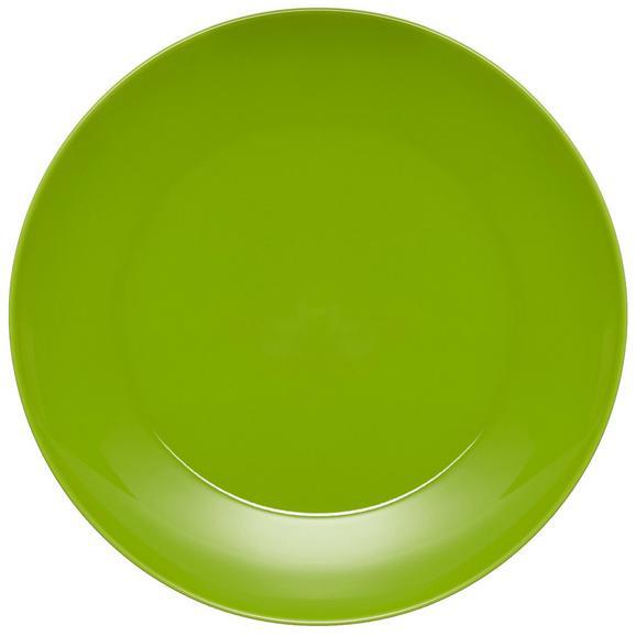 Speiseteller Sandy in Grün aus Keramik - Grün, KONVENTIONELL, Keramik (26,8/2,42cm) - Mömax modern living
