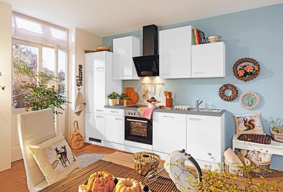 Küchenblock neo weiß betonoptik weiß modern holzwerkstoff 220cm