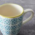 Frühstücksset aus Keramik 3-teilig ''Mosaico'' - Türkis/Grün, Keramik - Bessagi Home