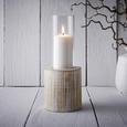 Kerzenhalter aus Tanne in Weiß Ø/H ca. 11,5/29cm 'Lenny' - Weiß, MODERN, Glas/Holz (11,5/29cm) - Bessagi Home