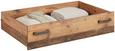 Bettschubkasten Naturfarben - Naturfarben, MODERN, Holzwerkstoff (108/108/33cm) - Premium Living