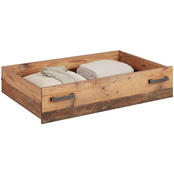 Posteljni Predal Baghira - naravna, Moderno, leseni material (84,1/24/67,4cm) - Premium Living
